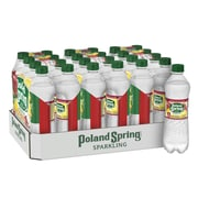 Poland Spring Brand Sparkling Natural Spring Water, Pomegranate Lemonade Flavor, 16.9 oz. Plastic Bottle, 24/Pack (12349576)