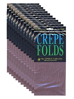 Cindus Crepe Paper Folds, Brown, 12/Pack (PK12-1190)