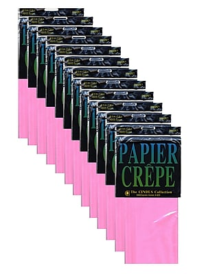 Cindus Crepe Paper Folds, Pink, 12/Pack (PK12-1131)
