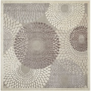Nourison Graphic Illusions Acrylic/Polypropylene Square Grey Area Rug