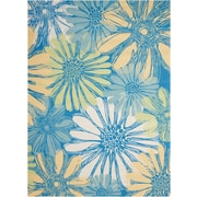 Nourison Home & Garden Polyester Blue Area Rug Indoor/Outdoor Area Rug