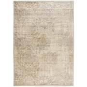 Nourison Graphic Illusions Acrylic/Polypropylene Ivory Area Rug