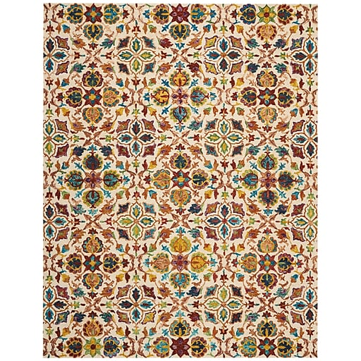 9x12 New Nourison Nourmak Hand Knotted Wool Reversible: Nourison Vivid Wool Ivory Area Rug