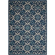 Nourison Caribbean Polypropylene Navy Area Rug Indoor/Outdoor Area Rug