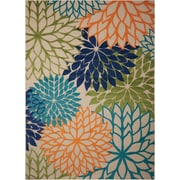 Nourison Aloha Polypropylene Multicolor  Area Rug Indoor/Outdoor Area Rug