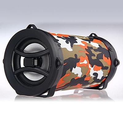 VEME BTP-002-ORC Portable Wireless Bluetooth Speaker Orange Camo (BTP-002-ORC)