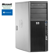 HP Refurbished HP Z400 Workstation Tower Intel Xeon W3503 2.4 GHz 16GB RAM 1TB Hard Drive + 120GB SSD, Windows 10 Pro