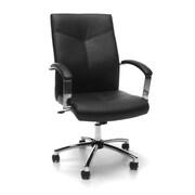 OFM Vinyl Conference Chair, Black (E1003-BLK)