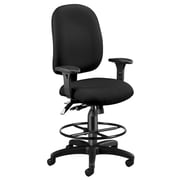 OFM Airflow Fabric Computer and Desk Office Chair, Adjustable Arms, Black (125-DK-805)