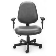 OFM Straton 119-VAM-AA-604 Fabric Task Chair with Arms, Charcoal