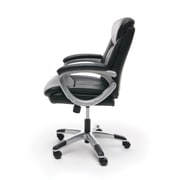 Essentials by OFM Executive Office Chair, Black with Silver Frame, (ESS-6020)