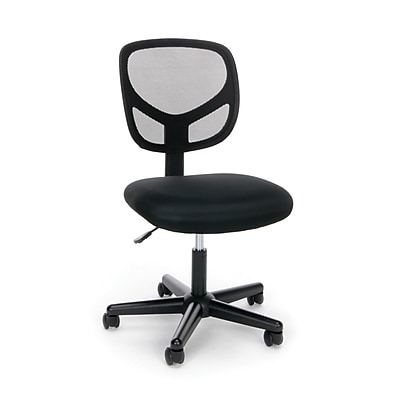Essentials by OFM Swivel Mesh Back Armless Task Chair, Black, (ESS-3000)