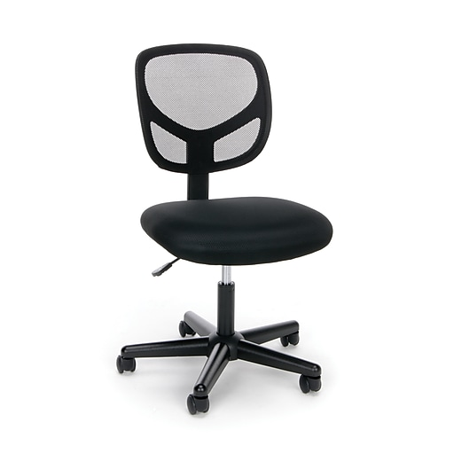 ofm essentials fabric computer and desk office chair armless black