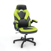 Essentials by OFM Bonded Leather Racing Style Gaming Chair, Black/Green (ESS-3085-GRN)