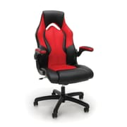 Essentials by OFM High-Back Racing Style Leather Gaming Chair, Red, (ESS-3086-RED)