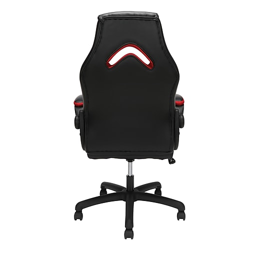Ofm Essentials By Ofm Leather Racing Style Gaming Chair