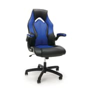 Essentials by OFM High-Back Racing Style Leather Gaming Chair, Blue, (ESS-3086-BLU)