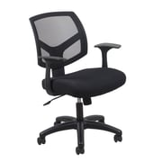 Essentials by OFM Swivel Mesh Back Task Chair with Arms, Black, (ESS-3030)