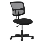 Essentials by OFM Fabric Computer and Desk Office Chair, Armless, Black (ESS-3020)