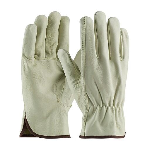 PIP Driver's Gloves, Top Grain Pigskin, Large, Cream Color, 1/Pr
