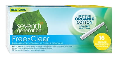 Seventh Generation Tampons, Regular Size, 16/Pack