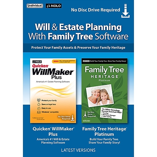 Individual Software: Individual Software Will & Estate Planning With Family