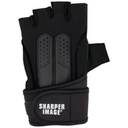 Sharper Image Fitness Gloves with Wrist Support (Small, Black) (SI-FG-380SM-BLK)