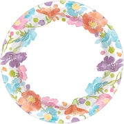 """Amscan Spring Has Sprung Plates, 6.75""""W x 6.75""""L, Paper, Pack of 8, 40 Per Pack (551738)"""