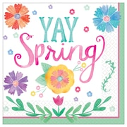 """Amscan Watercolor Spring Luncheon Napkins, 6.5""""W x 6.5""""D, Paper, Pack of 3 (711918)"""