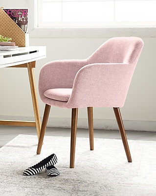 Elle Decor Roux Arm Chair, French Blush (CHRROUBLSL02)