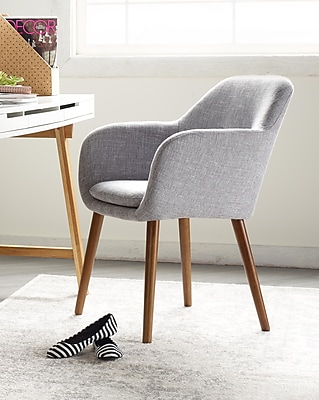 Elle Decor Roux Arm Chair, French Gray (CHRROUGRYL02)
