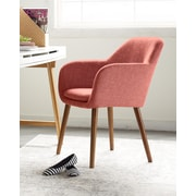 Elle Decor Roux Arm Chair, French Red (CHRROUREDL02)