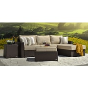 Serta Laguna Outdoor Ottoman, Brown Wicker (DJ16011)