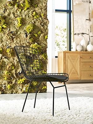 Elle Decor Holly Wire Chair, Noir Black, Set of 2 (CHRHLYBLKM02)