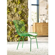 Elle Decor Holly Wire Chair, French Green, Set of 2 (CHRHLYGRNM02)