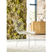 Elle Decor Holly Wire Chair, French White, Set of 2 (CHRHLYWHTM02)
