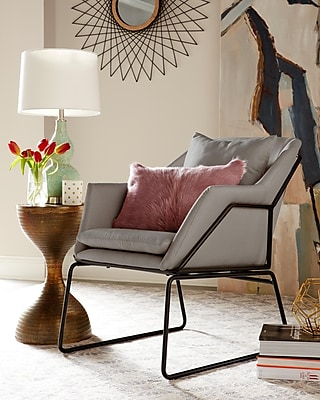 Elle Decor Odile Accent Chair, French Gray (CHRODIGRYL02)