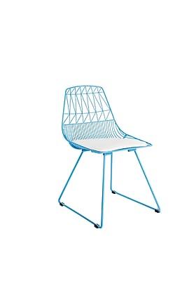 Elle Decor Vivi Metal Chair, French Turquoise, Set of 2 (CHRVIVTRQM02)