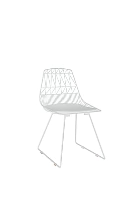 Elle Decor Vivi Metal Chair, French White, Set of 2 (CHRVIVWHTM02)