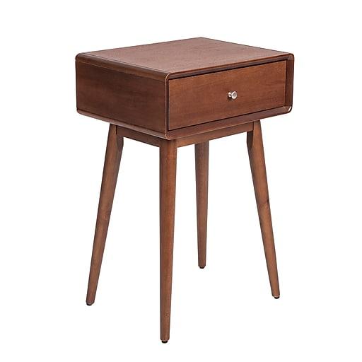 Elle Decor Rory One Drawer Side Table, Modern Amber (FETRORAMB102)