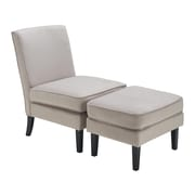 Elle Decor Olivia Chair and Ottoman, French Gray (UPH20020A)