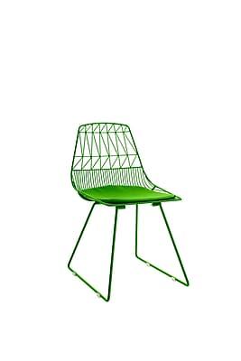 Elle Decor Vivi Metal Chair, French Green, Set of 2 (CHRVIVGRNM02)