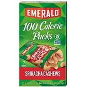 Emerald 100 Calories Packs Sriracha Cashew, Pack of 7 (SNY33825)