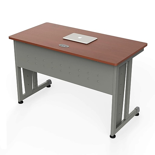 Linea Italia 24 X 48 Rectangular Office Desk Cherry Gray Zuc103