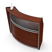 Linea Italia Reception Desk With Polycarbonate, Cherry (ZUC310)