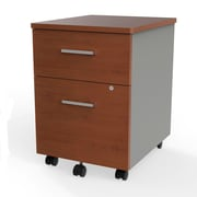 Linea Italia Filing Cabinet, Wood With Metal, Cherry/Silver (ZUC106)