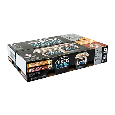 Dannon Oikos Protein Crunch, Variety Pack, 12 Count (902-00086) 24316844