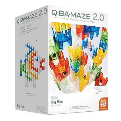 MindWare Q-BA-MAZE 2.0 - The Next Generation Marble Maze - 92 Piece Set (MWA48168W) 159362