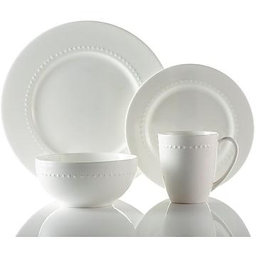 Roscher 32-Piece Braid Bone China Dinnerware, Durable & Stylish, Microwave & Dishwasher Safe High Quality Set (82706)