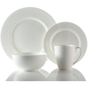 Roscher 32-Piece Hobnail Bone China Dinnerware, Microwave and Dishwasher Safe, High Quality Dinnerware (81072)